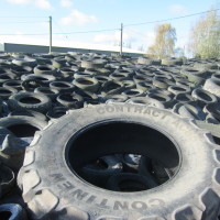 Tyres on Silage Clamp - Whitehall Farm