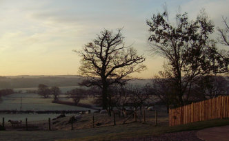 Winter's landscape and the Oast