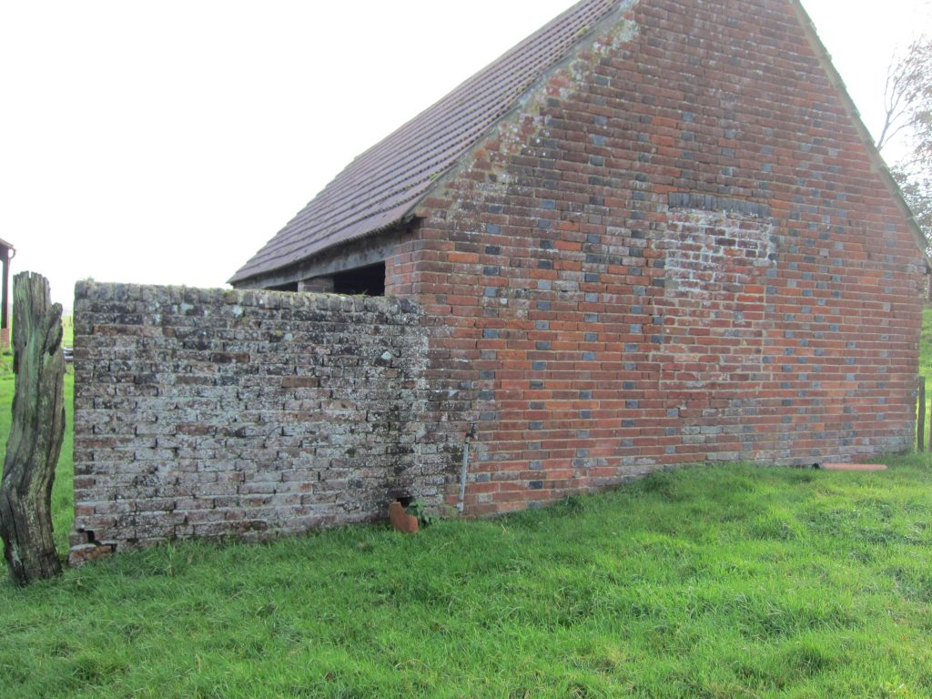 Ageing brickwork, inside and out