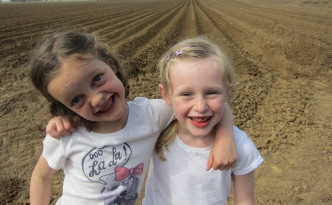 Farm kids and farm stripes