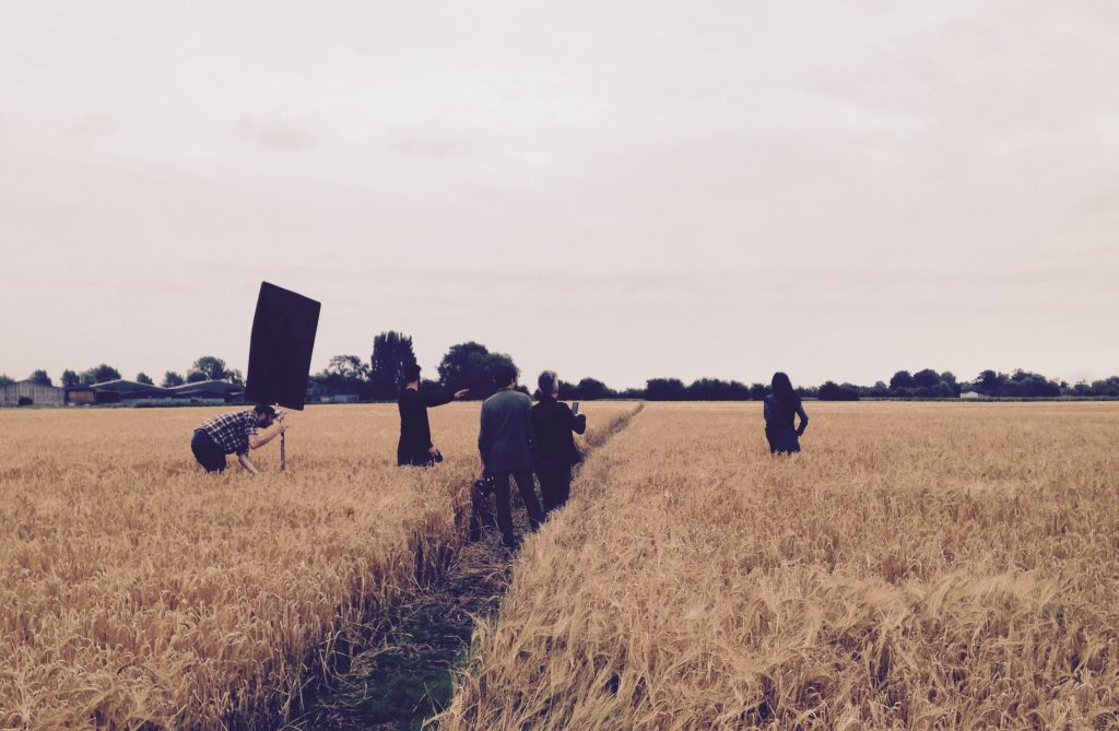 Fasion shoot in the barley field - Whitehall Farm