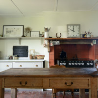 Kitchen table at Lidham Hill Farm