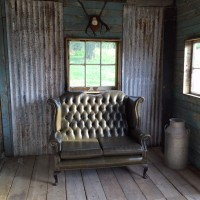 Shack interior at Lidham Hill Farm