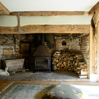 Sitting room at Lidham Hill Farm