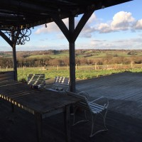 View from shelter at Lidham Hill Farm