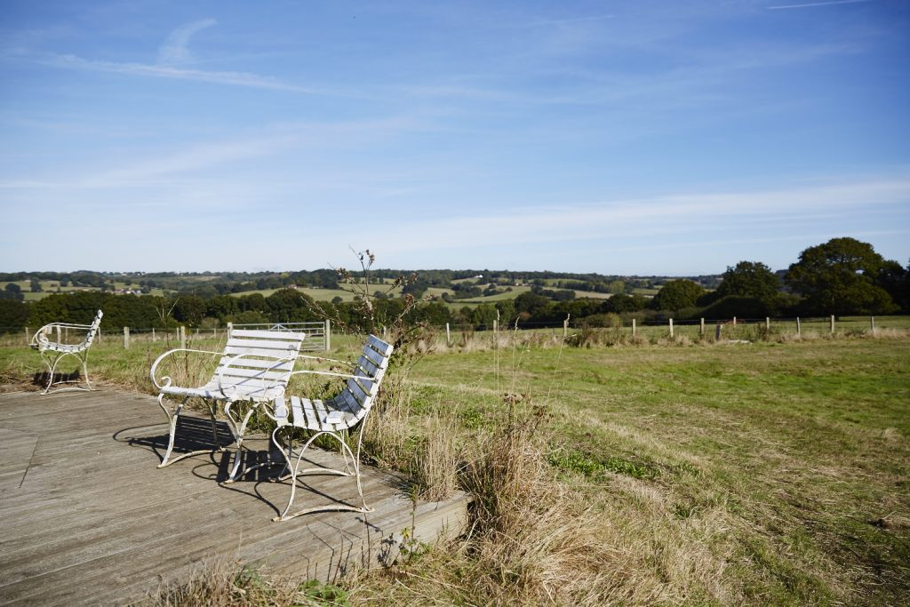View over the Brede Valley at Lidham Hill Farm in Sussex