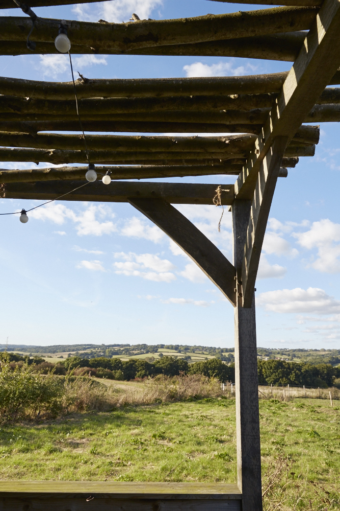 Shelter location at Lidham Hill Farm in Sussex