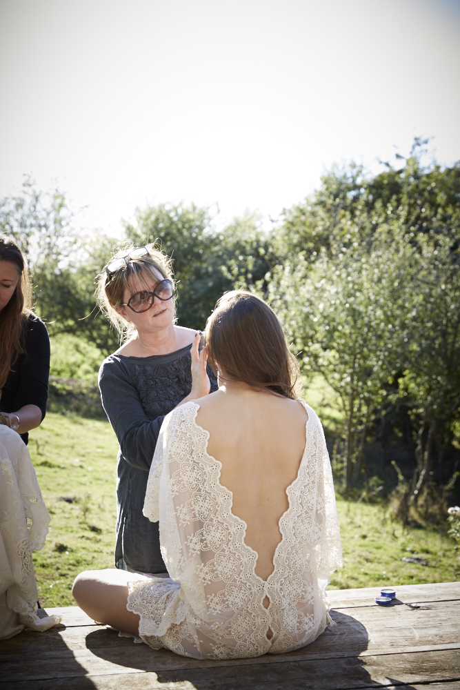 Behind the scenes, on location for fashion shoot at Lidham Hill Farm in Sussex