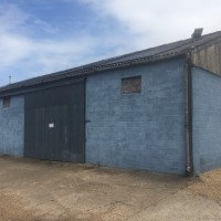 Blue packing shed - Austin Farm