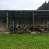 Hooksway farm tractor shed