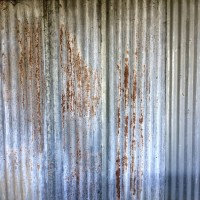 Quarrenden farm corrugated tin