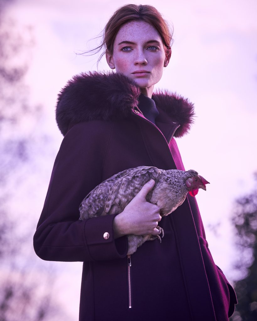 Ted Baker AW17 Fashion shoot chicken