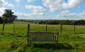 Humphries Farm seat with a view